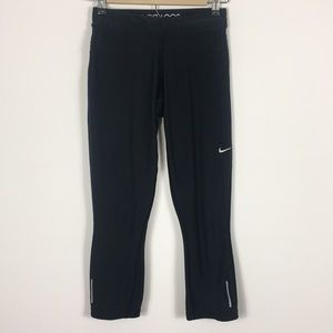 Nike Black Cropped Workout Capri Leggings